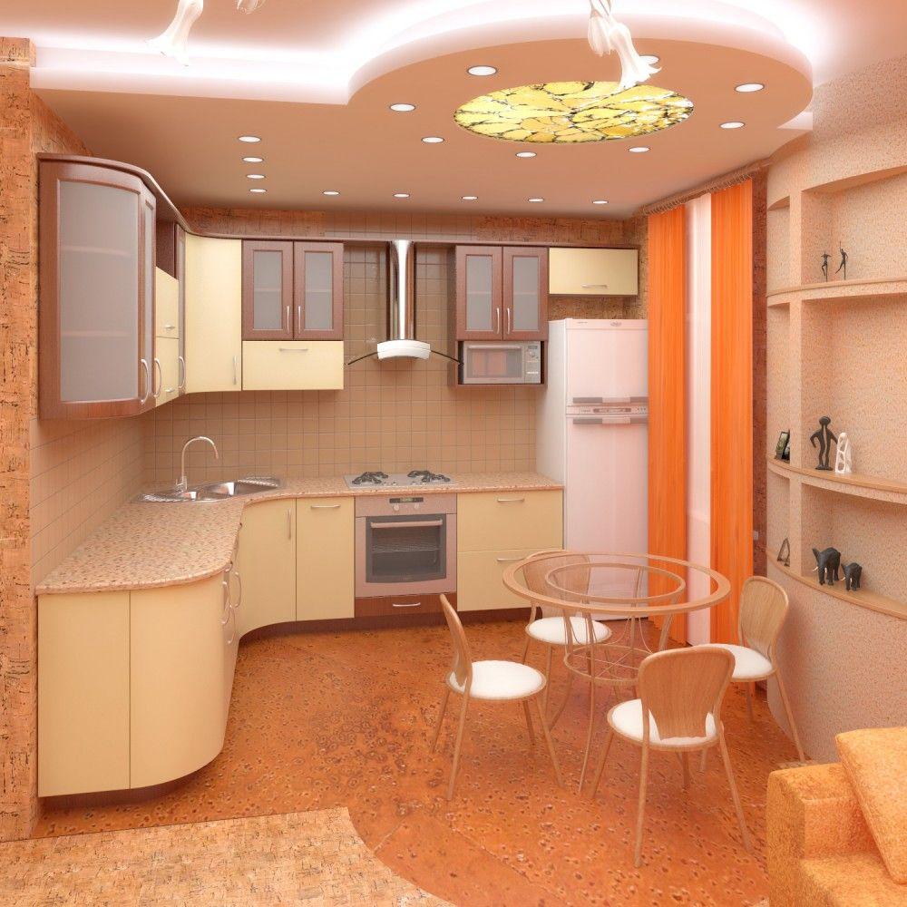 Натяжные потолки для кухни дизайн фото