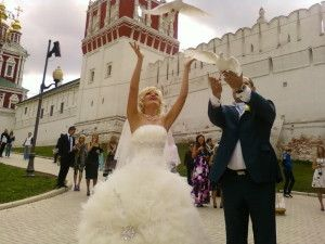 голуби на свадьбу